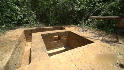 原始技艺,建造地下室和一个大的地下游泳池