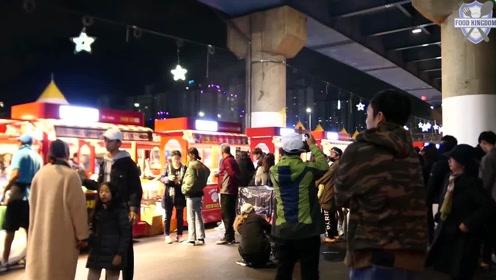韩国街头小吃:街拍韩国夜市各种美食真是美食天堂啊直流口水!