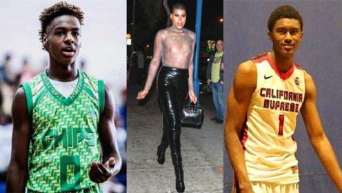 盘点NBA星二代:詹姆斯儿子,魔术师儿子,阿泰儿子,球迷:差距真大