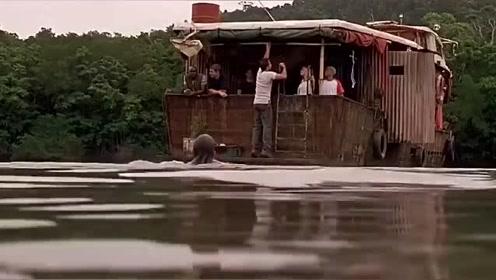 经典影视狂蟒之灾:本来以为只是条鳄鱼,没想到河里还有别的!