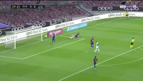 西甲巴萨10送西班牙人提前3轮降级苏神破门武磊出场10分钟