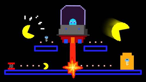 吃豆人超搞笑动画,当所有人都坐上宇宙飞船!