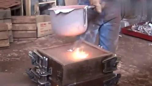 传统铸铝的生产工艺,此视频解开我多年疑惑,长知识了!