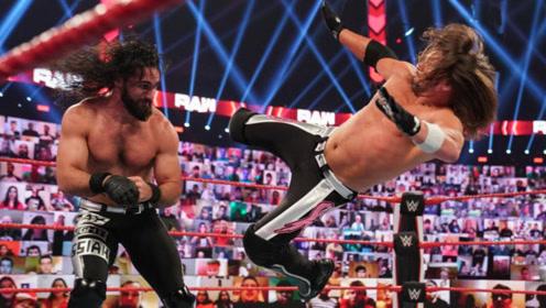 WWE三重威胁赛,罗林斯惜败遗憾收场,流浪歌手回归盯上杰夫哈迪