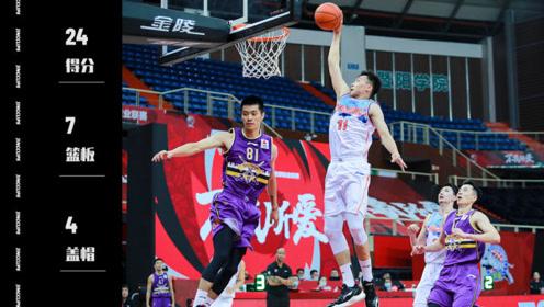 拉杆又暴扣!三分5中5!中国篮球的未来得有齐麟