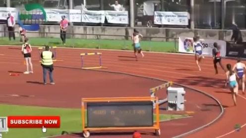 河南体育老师和学生一起参加接力跑火了,据说她是全运会冠军