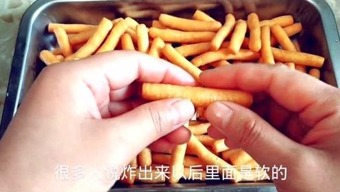 正宗老式江米条,掌握三个关键点,酥脆香甜又空心,想失败都难