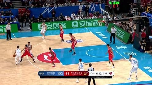 【回放】青岛vs北京第4节 亚当斯杂耍运球换手上篮