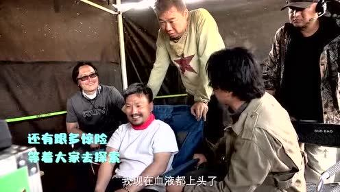 Behind the scenes: Big golden teeth fall into quicksand dirt pit