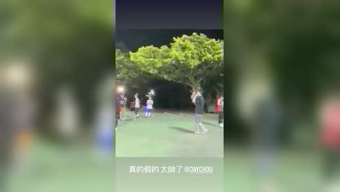 林书豪转发周杰伦打球视频 配文:真的假的太帅了