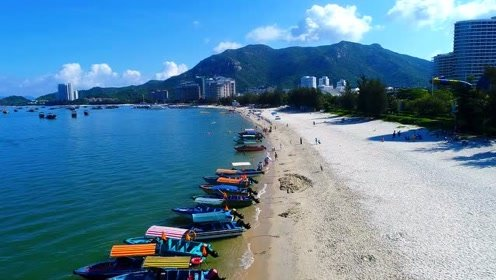 航拍巽寮湾海滩的美丽风景