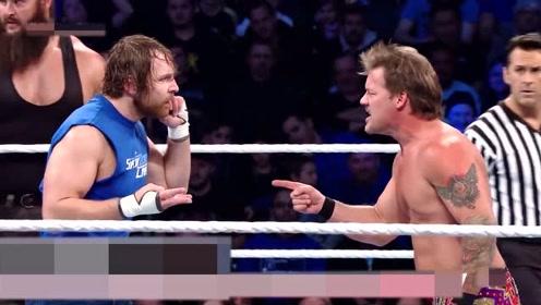 WWE男子赛 ,实力相当的对决,玩的太秀了