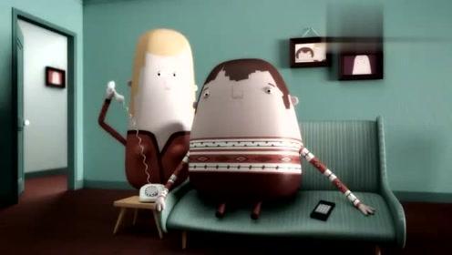 搞笑动画短片所有人都没有嘴巴,那用什么来说