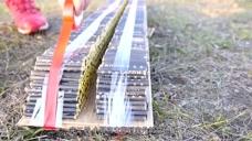 作死实验:将10000根鞭炮捆绑在一起点燃,会是什么场面呢?