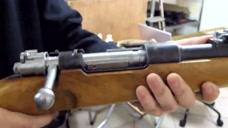 98K子弹填装上膛测试,上膛有点卡壳,需要保养了!