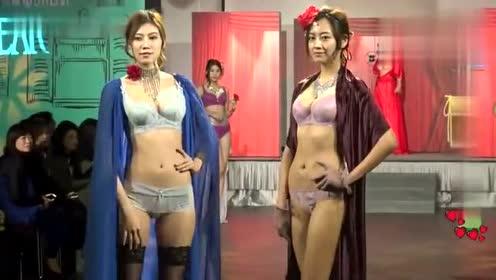 台北时尚高端内衣秀,身材修长凹凸有致的模特,把性感释放到极致