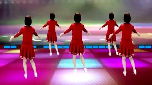 网红流行广场舞《对面的小姐姐》,背面演绎,音乐好听舞蹈好看!