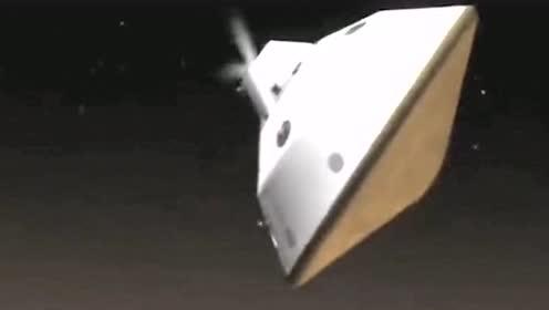 从卫星上发来的视频,探测车突破火星大气层那一刻,为中国科技感动骄傲!