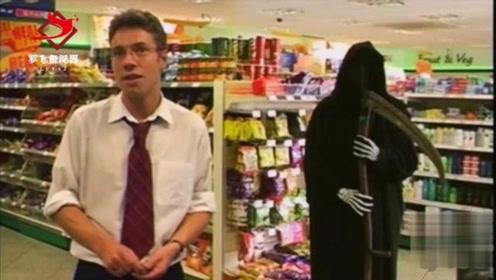 搞笑恶搞恶作剧:诡异的商场监控视频,回头看,身后没异样啊!