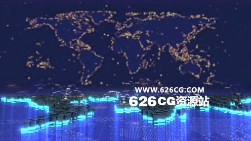 【4K】现代大气科技感数字世界连接背景视频素材