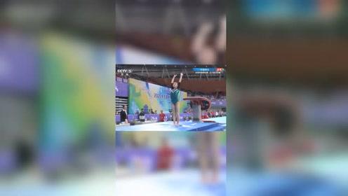 全国体操锦标赛,在体能测试后确定晋级的情况下,河北选手高宁跳马决赛上演零难度动作...