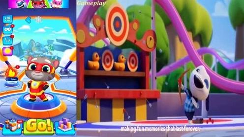 会说话的汤姆猫游戏动画对比:消消乐一