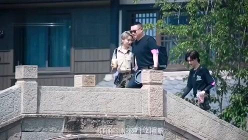 the9刘雨昕,《极限挑战》路透视频来啦,穿工装的刘老师笑起来可太甜啦
