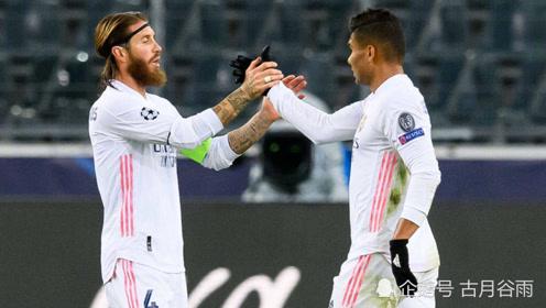 皇马客场2-2绝平门兴,欧冠两轮仅积1分,小组垫底