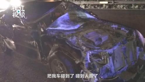 这样的车谁敢开?高速一小轿车没有车顶冒烟变形仍在行驶
