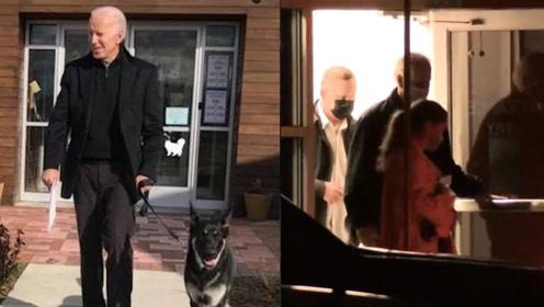 現場!拜登與寵物狗玩耍滑倒扭傷腳踝后 扶門走出診所