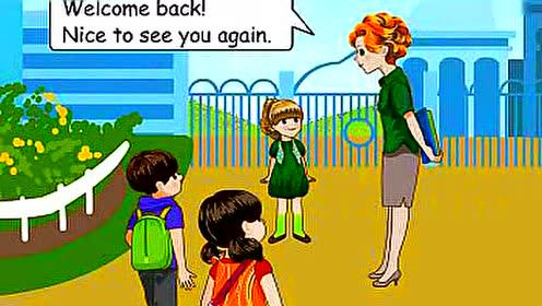 PEP三年级英语下册Unit1 Welcome back to school_flash互动教学