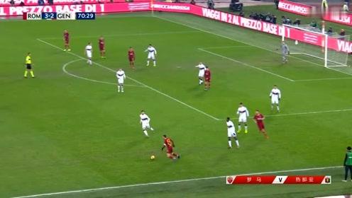 罗马VS热那亚:白队17号球员把对方推倒,裁判没有吹