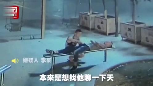 醉漢夜睡長凳  遭一男子解皮帶猥褻偷竊!