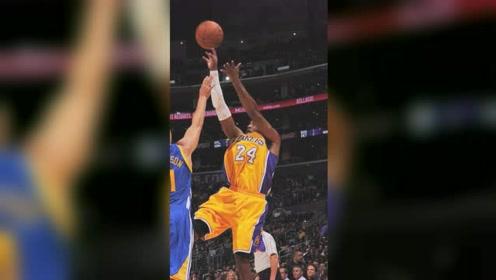NBA名场面:科比失重心躺着将球命中,一次进攻戏耍5人