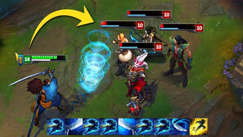 LOL:钻石亚索极限操作拿五杀,这样的细节你看