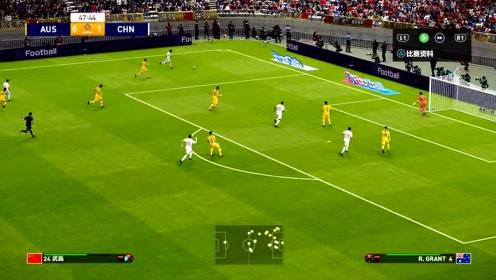 中国男足3:1澳大利亚,武磊进球&阿兰双响,李铁国足耀我中华