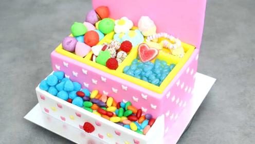 超漂亮的公主糖果盒,是甜品师用蛋糕做成的?简单易学一看就会哦