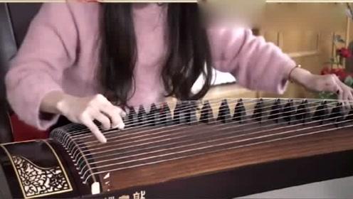 小姐姐古筝弹奏《九张机》,双世宠妃这曲子太好听了!
