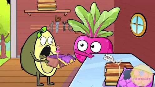 牛油果搞笑动画:万圣节的敲门,捣蛋、吓坏的