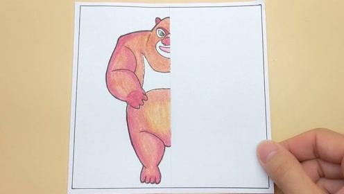 熊出没熊大一半动物一半人形,有何变化?对比