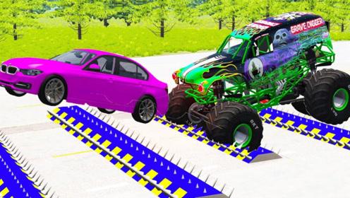 尖刺带上的追击, 3D动画模拟速度与激情,场面太刺激!