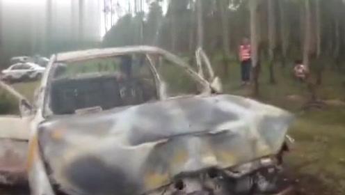 广西北海一男子驾车追尾摩托车致人死亡 逃逸后竟烧车销毁证据