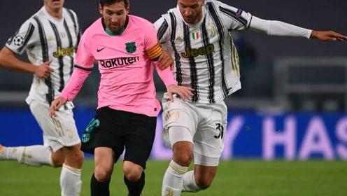 巴萨欧冠2-0尤文,梅西传射登贝莱破门建功,莫拉塔越位帽子戏法!