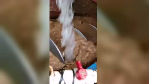 客户螺旋洗砂机现场洗沙效果视频#生活窍门#