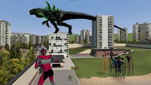 GMOD大动画:辐射哥斯拉VS终极形态绿巨人,谁才是怪兽?