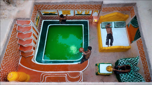 建造最神奇的寺庙地下室和简单的地下游泳池