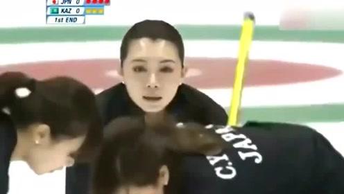 日本冰壶美女赛场难以控制笑场,竟是出现如此