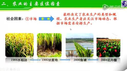 高中地理必修二第三章 农业地域的形成与发展 1.农业的区位选择