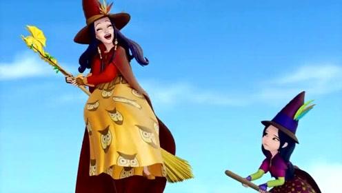 免费色小公主逼_小公主苏菲亚:坏女巫使出极端邪恶咄咄逼人大魔咒,小女巫无能为力