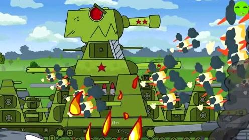 坦克世界欢乐动画:kv44 vs 巨鼠图片